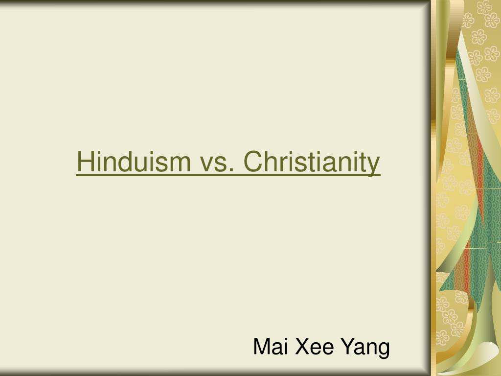 hinduism vs christianity l.