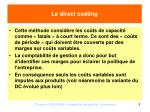 le direct costing