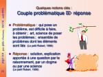 quelques notions cl s couple probl matique r ponse