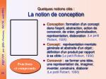 quelques notions cl s la notion de conception