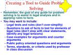 creating a tool to guide problem solving