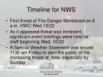 timeline for nws