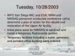 tuesday 10 28 200339