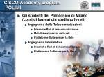 cisco academy program polimi