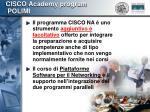 cisco academy program polimi7