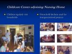 childcare center adjoining nursing home