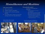 homelikeness and mealtime