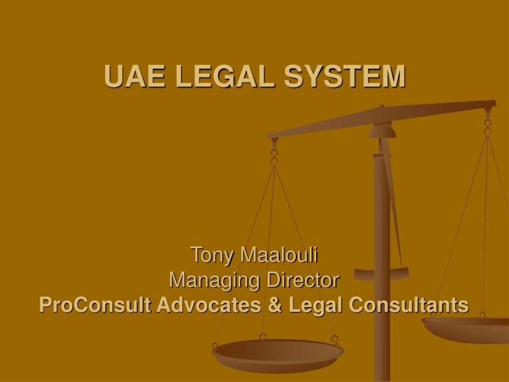 uae legal system l.