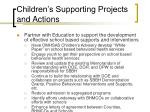 children s supporting projects and actions20