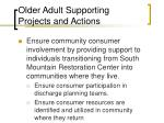 older adult supporting projects and actions40