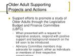 older adult supporting projects and actions44
