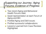 supporting our journey aging forums evidence of progress
