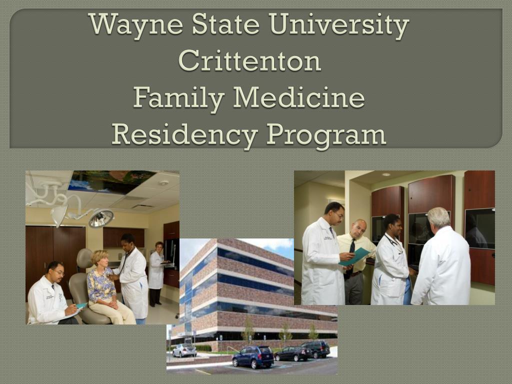 wayne state university crittenton family medicine residency program l.