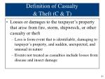 definition of casualty theft c t