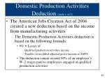 domestic production activities deduction slide 1 of 5
