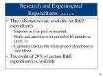 research and experimental expenditures slide 2 of 2