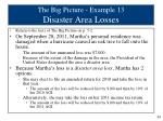 the big picture example 13 disaster area losses
