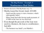 the big picture example 4 nonbusiness bad debts