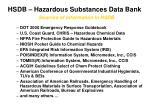 hsdb hazardous substances data bank