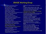 grade working group