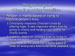 religion is good how it provides benefits12