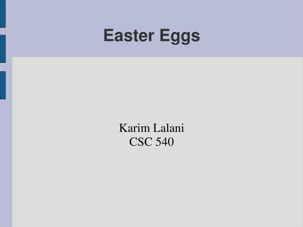 karim lalani csc 540 l.