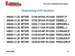 engineering h191 sections