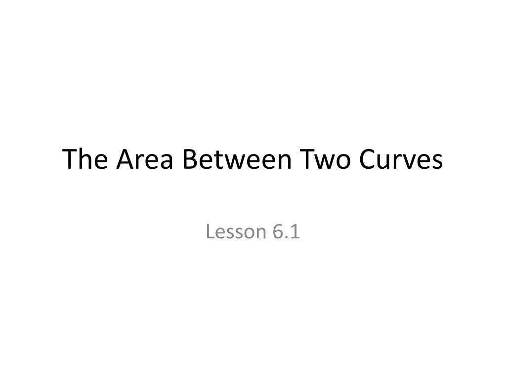 the area between two curves l.