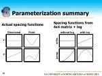 parameterization summary