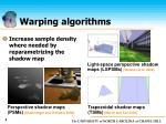 warping algorithms