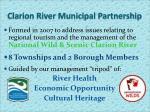 clarion river municipal partnership