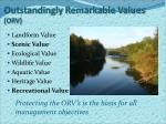 outstandingly remarkable values orv