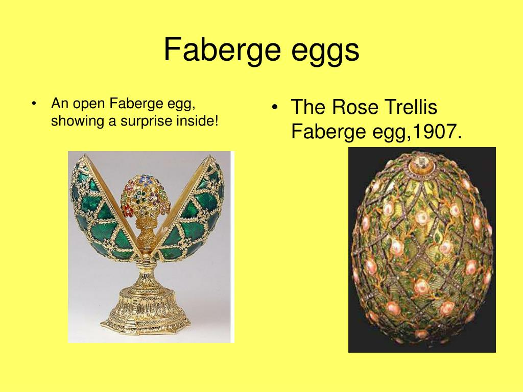 An open Faberge egg, showing a surprise inside!