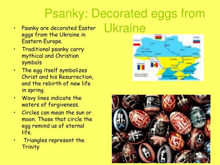 Psanky decorated eggs from ukraine