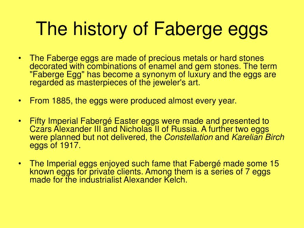 The history of Faberge eggs