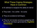 what these coping strategies have in common