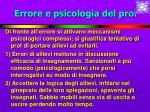 errore e psicologia del prof