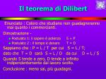 il teorema di dilibert