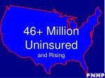 46 million uninsured and rising