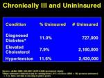 chronically ill and uninsured