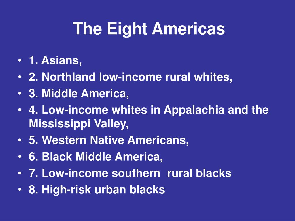 The Eight Americas