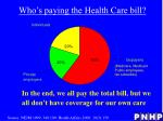 who s paying the health care bill