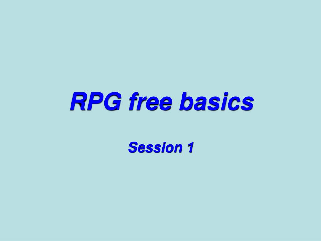 rpg free basics l.