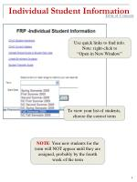 individual student information