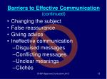 barriers to effective communication continued16