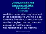 communication and interpersonal skills introduction continued5