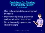 guidelines for charting if allowed by facility continued92
