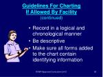 guidelines for charting if allowed by facility continued93