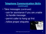 telephone communication skills continued36