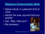 telephone communication skills